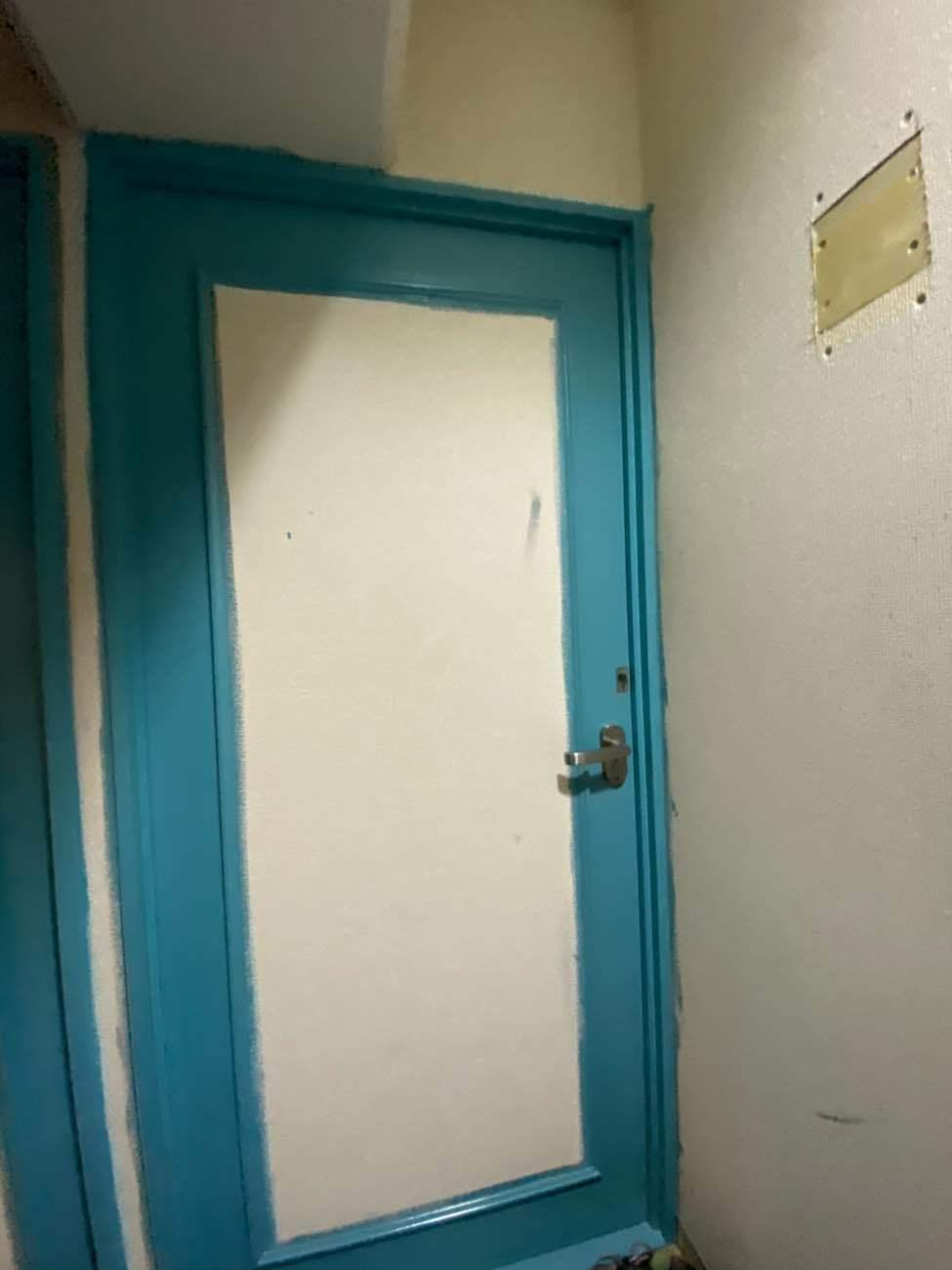 廊下建具塗装