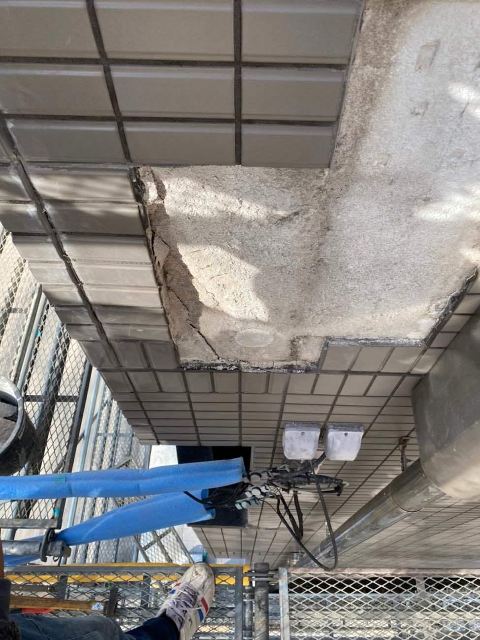 名古屋市天白区にてALCのお宅のタイル修繕工事です