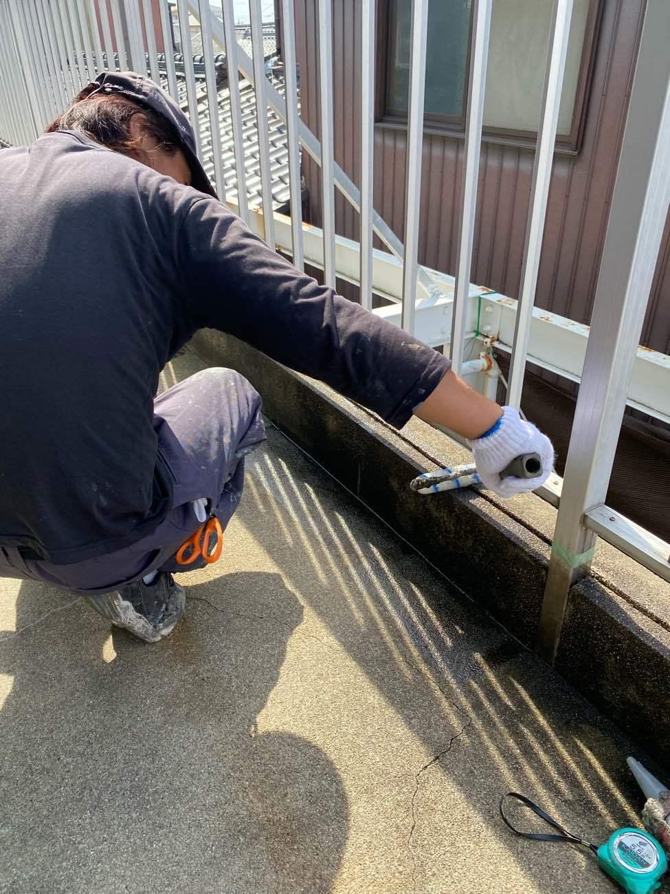 知立市内幸町にて雨漏りしているバルコニーの防水工事を行いました
