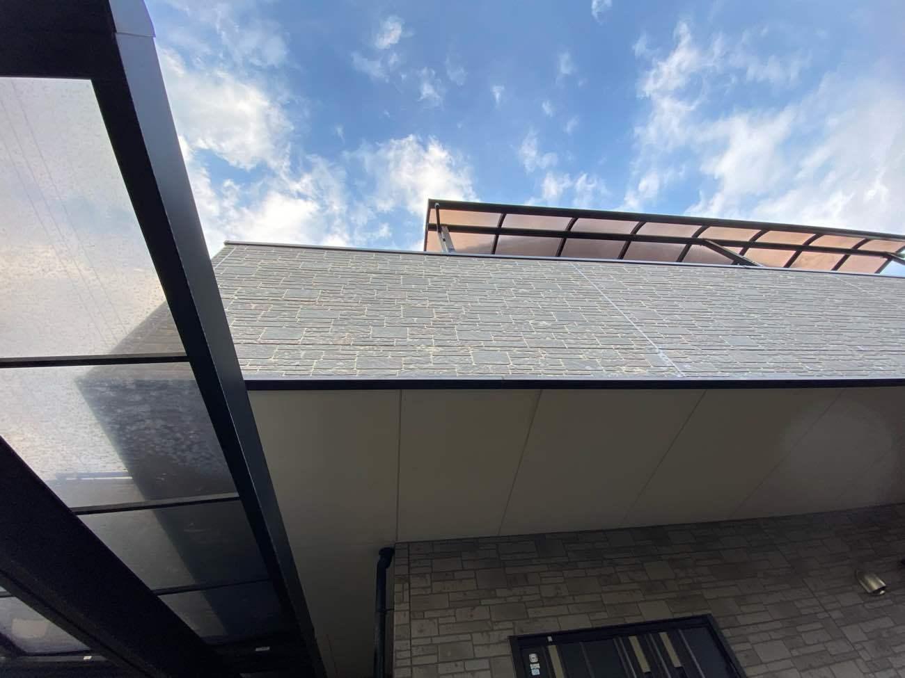 安城市横山町にて落下したサイディングの復旧工事完了です!