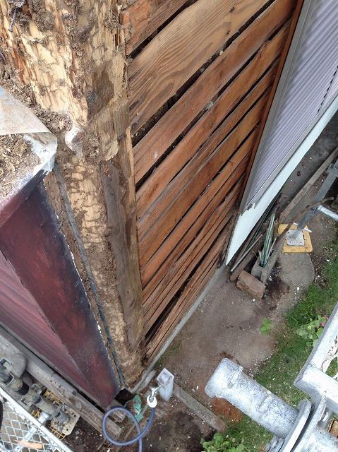 シロアリ被害状況 柱部分
