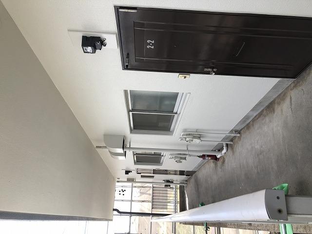 塗装後のアパート